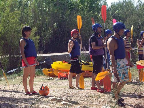Kayak en Cofrentes