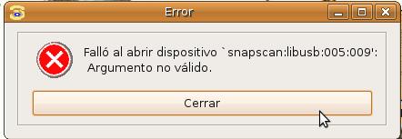 XSane-Error