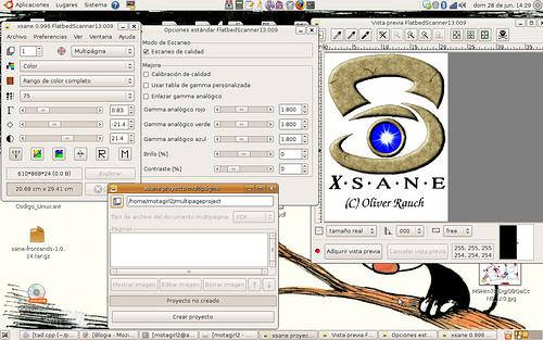 Xsane-running