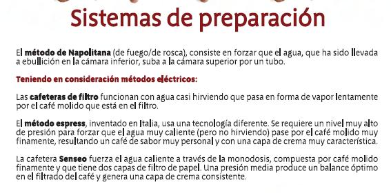 Senseo - Explicacion sistemas de preparacion