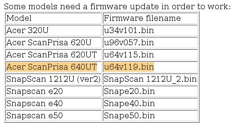 Xsane-firmware