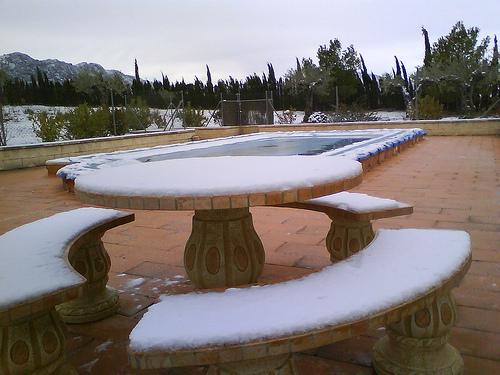 Nieve - Piscina